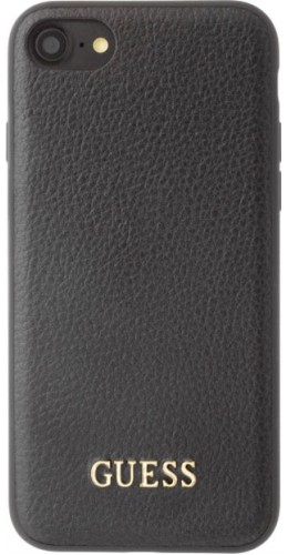 Coque iPhone 7 Plus / 8 Plus - Guess Cuir noir