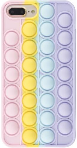 Coque iPhone 7 Plus / 8 Plus - Silicone jeu éclate bulles anti-stress arc-en-ciel