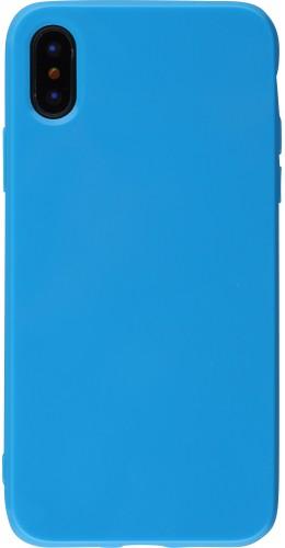 Coque iPhone Xs Max - Gel bleu foncé