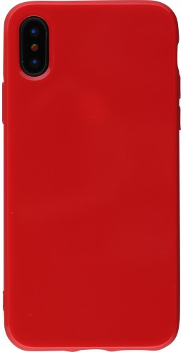 Coque iPhone Xs Max - Gel rouge