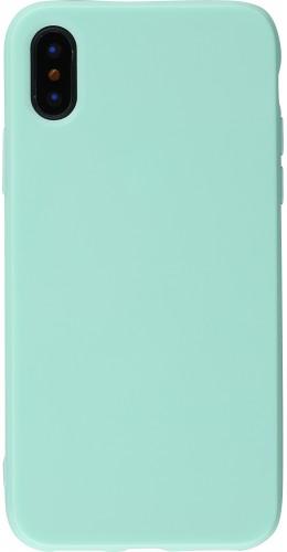 Coque iPhone XR - Gel vert menthe