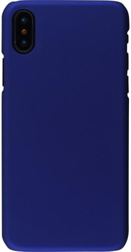 Coque iPhone XR - Plastic Mat bleu foncé