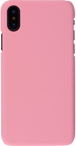 Coque iPhone XR - Plastic Mat rose