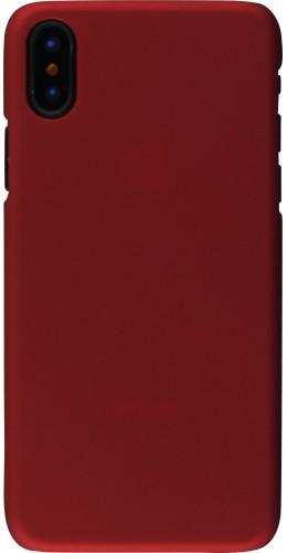 Coque iPhone XR - Plastic Mat bordeau