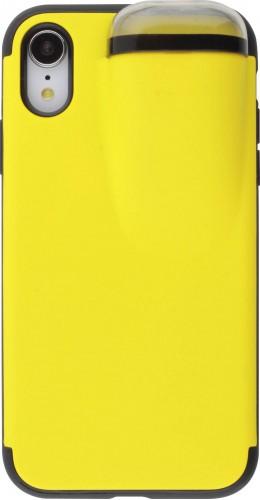 Coque iPhone XR - 2-In-1 AirPods jaune