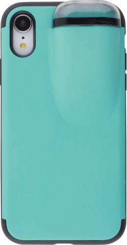 Coque iPhone XR - 2-In-1 AirPods turquoise