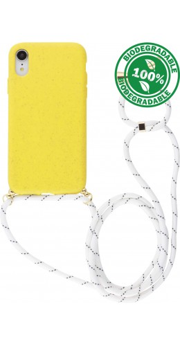 Coque iPhone XR - Bio Eco-Friendly Lacet jaune