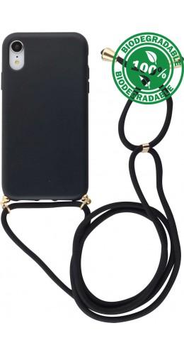 Coque iPhone XR - Bio Eco-Friendly Lacet noir