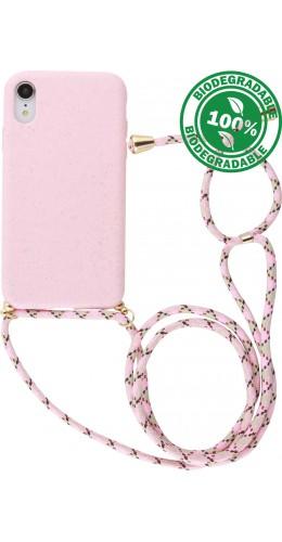 Coque iPhone XR - Bio Eco-Friendly Lacet rose