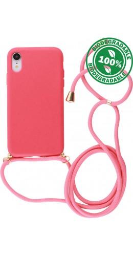 Coque iPhone XR - Bio Eco-Friendly Lacet rouge