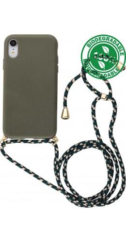 Coque iPhone XR - Bio Eco-Friendly Lacet vert foncé