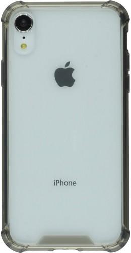 Coque iPhone XR - Bumper Glass gris transparent