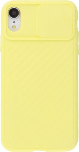 Coque iPhone XR - Caméra Clapet jaune