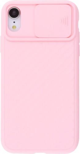 Coque iPhone XR - Caméra Clapet rose clair