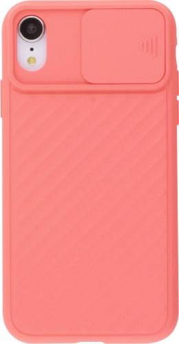 Coque iPhone XR - Caméra Clapet saumon