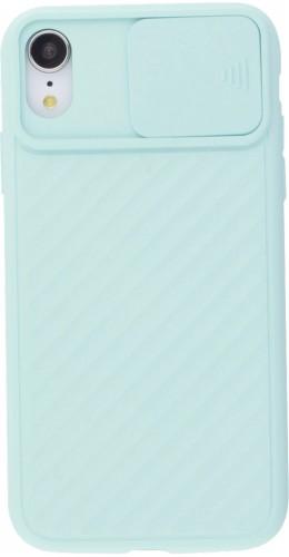 Coque iPhone XR - Caméra Clapet turquoise