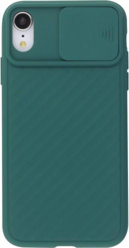 Coque iPhone XR - Caméra Clapet vert foncé