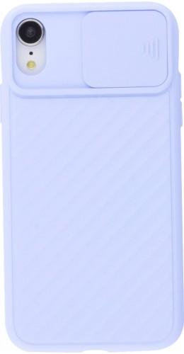 Coque iPhone XR - Caméra Clapet violet