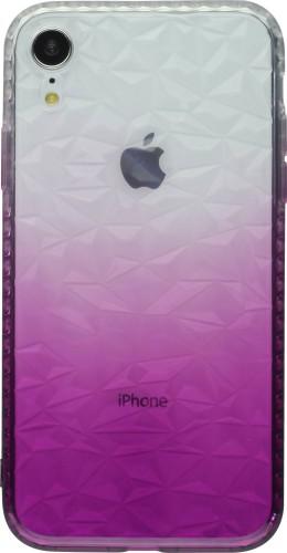 Coque iPhone X / Xs -  Diamond 3D violet