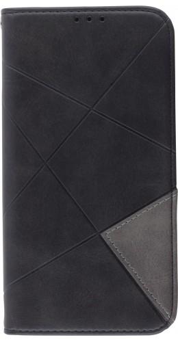 Coque iPhone XR - Flip Géometrique noir