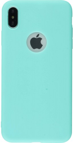 Coque iPhone XR - Silicone Mat turquoise