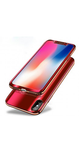 Coque iPhone X - 360° Full Body Mirror rouge