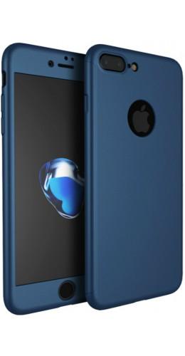 Coque iPhone X - 360° Full Body bleu foncé
