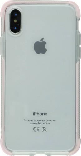 Coque iPhone X / Xs - Bumper Stripes rose