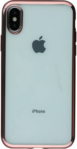 Coque iPhone X / Xs - Electroplate or rose