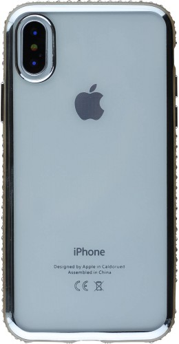 Coque iPhone X / Xs - Bumper Diamond argent