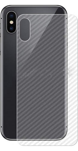Autocollant arrière carbon transparent - iPhone X