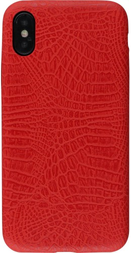 Coque iPhone X / Xs - Croco rouge
