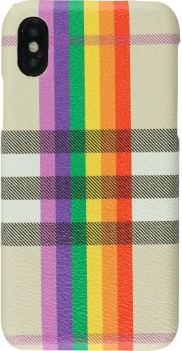 Coque iPhone X / Xs - Cross Pattern beige