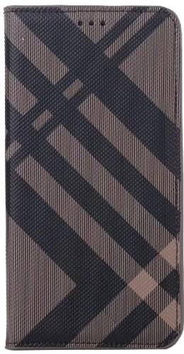 Coque iPhone XR - Flip Lines brun