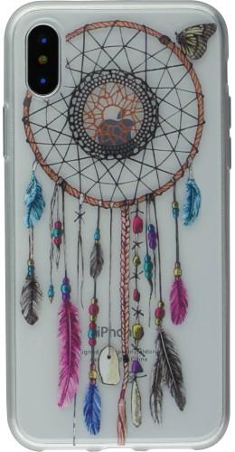 Coque iPhone X / Xs - Gel Dreamcatcher rose bleu