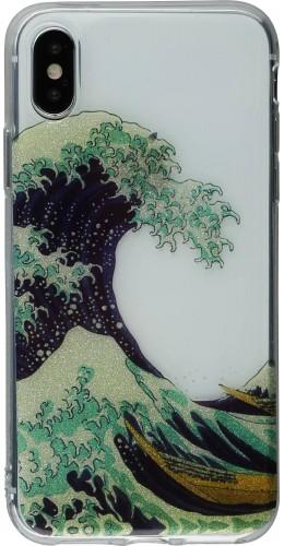 Coque iPhone X - Gel Shine Tsunami