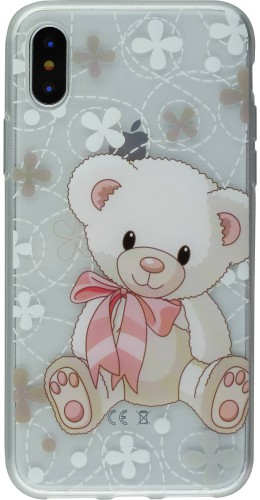 Coque iPhone Xs Max - Gel ours en peluche