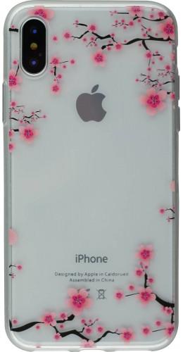 Coque iPhone Xs Max - Gel petites fleurs