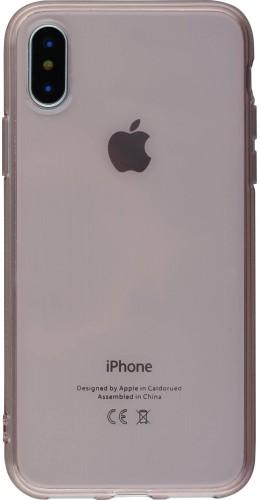 Coque iPhone Xs Max - Gel transparent rose clair