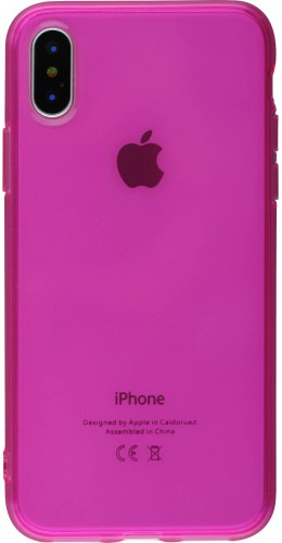 Coque iPhone X / Xs - Gel transparent rose foncé