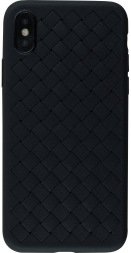 Coque iPhone X - Leather Creepers noir