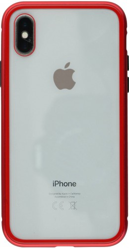 Coque iPhone X / Xs - Magnetic Case rouge