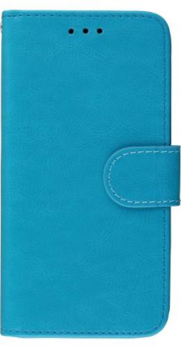 Coque iPhone X / Xs - Premium Flip turquoise