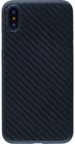 Coque iPhone X / Xs - TPU Carbon
