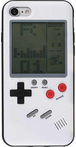 Coque iPhone X / Xs - Tetris Game Boy blanc