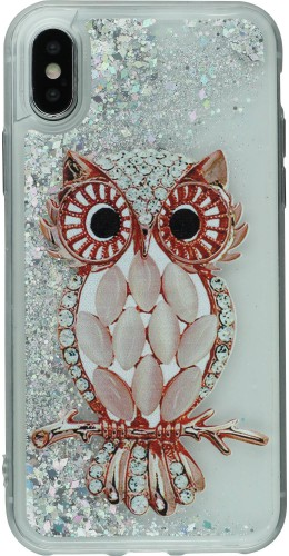 Coque iPhone X / Xs - Water Stars Owl