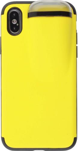 Coque iPhone X / Xs - 2-In-1 AirPods jaune