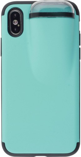 Coque iPhone X / Xs - 2-In-1 AirPods turquoise