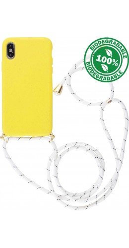 Coque iPhone X / Xs - Bio Eco-Friendly Lacet jaune