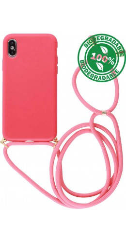 Coque iPhone X / Xs - Bio Eco-Friendly Lacet rouge